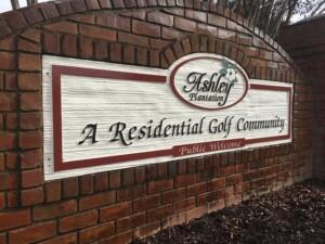 Ashley Plantation's Wooden Sign - After