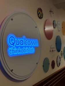 Qualcomm Backlit Sign