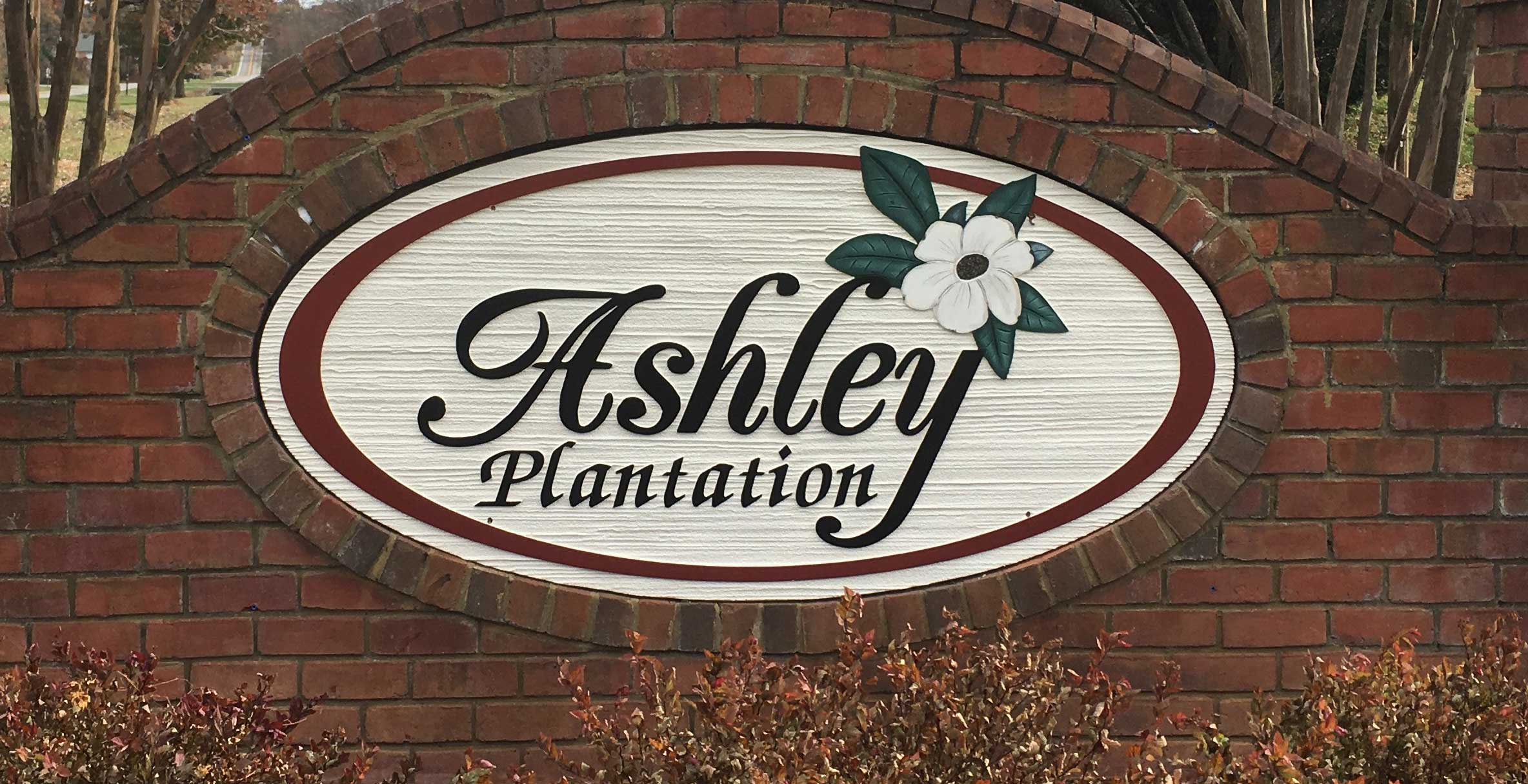 Ashley Plantation Wooden Sign gets makover