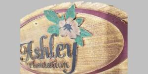 Sandblasted sign for Ashley Plantation gets refurbished